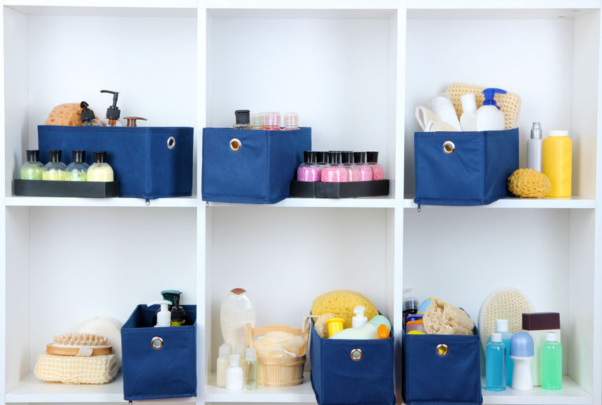 Textilboxen für Make up
